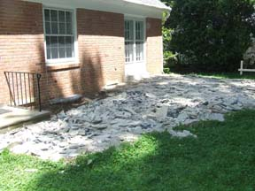 porch deconstruction